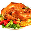 Roast turkey — Stock Photo