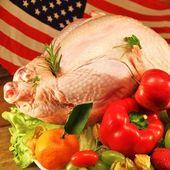 Raw turkey — Stock Photo