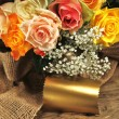 Colorful bouquet of roses — Stock Photo