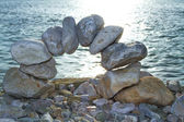 Stones at the sea — Stock Photo