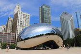 Chicago Bean Cloud Gate — Stock Photo