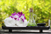 Outdoor spa still life — Stock Photo