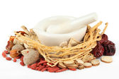 Chinese traditional herbal medicine — Stock Photo