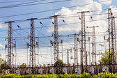 Power transmission towers — Stock Photo