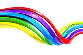 Sfondo striscia colorata curva astratta — Foto Stock