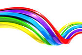 Colorful abstract curve stripe background — Stock Photo