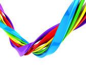 красочных абстрактных кривая полоса фон — Стоковое фото