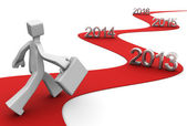 Succes in de heldere toekomst concept — Stockfoto