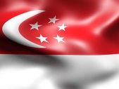 Singapore country flag 3d illustration — Stock Photo