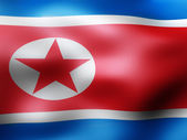 North Korea country flag 3d illustration — Stock Photo