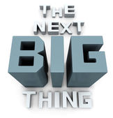 The next big thing coming soon — Stock Photo