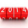 2014 year coming soon rolling calendar — Stock Photo