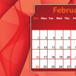 Colorful abstract  2014 February calendar — Stock Photo