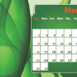 Colorful abstract  2014 March calendar — Stock Photo