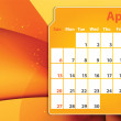 Colorful abstract  2014 April calendar — Stock Photo