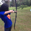 Россия. Стрельба стрелами из спортивного лука. Russia. Shooting arrows out of a bow sports. — Stock Photo
