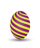 Vector Illustration of Colorful Easter Purple Egg — Stock Vector