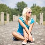 Beautiful blond girl relaxing — Stock Photo #2493880