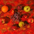 Stock Photo: Fruit on carpet