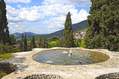 Fountain at Villa d'Este — Stock fotografie