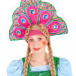图库照片: Girl in kokoshnik