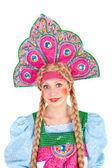 Dziewczyna w kokoshnik — Zdjęcie stockowe
