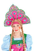 Girl in kokoshnik — Photo