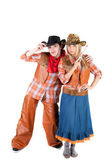 Cowboy and cowgirl — Stock Photo