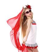 Dança vermelha — Foto Stock