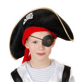 Little smiling pirate — Stock Photo