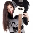 Stock Photo: Girl with guitar