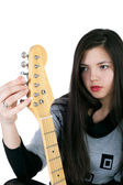 Girl and guitar — Stok fotoğraf