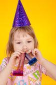 Girl and birthday — Stock Photo