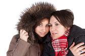 Meisjes in de winter — Stockfoto