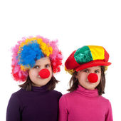 Cute little clowns — Stock Photo