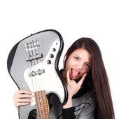 Ragazza con chitarra — Foto Stock