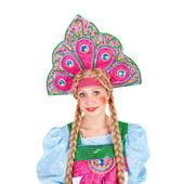 Chica en kokoshnik — Foto de Stock