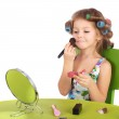 Little girl making makeup — Stock Photo #26091811