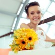 Young smiling bride — Stock Photo #27807577