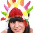 American Indian woman — Stock Photo