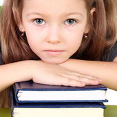 Girl with books — Foto Stock
