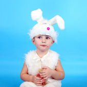 Child in the hare costume — Stock Photo