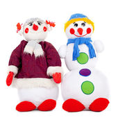 Couple of the snowmen — Foto de Stock