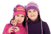 Little twin sisters — Stock Photo