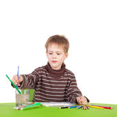 Little boy painting — Stockfoto