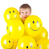 Man with balloons — Foto Stock