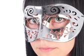 Girl in the carnival mask — Stock Photo