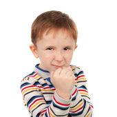 Petit garçon prêt à se battre — Photo