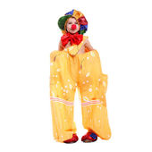 Boy dressed as a clown — Stock Photo