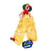Boy dressed as a clown — Foto Stock